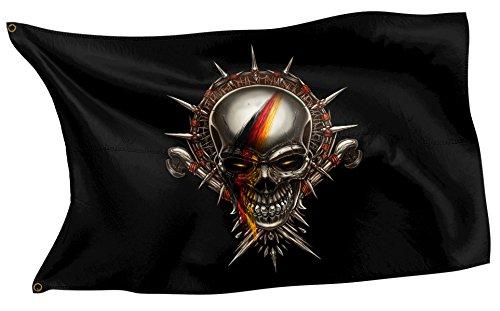 RAHMENLOS Original Design-Flagge: Deutschland-Fahne Totenkopf German Skull