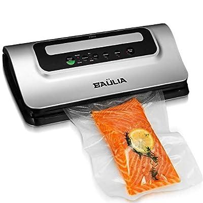 Baulia Automatic Vacuum Food Sealer - Air Sealing Machine for Food Preservation, Compact Design, Silver