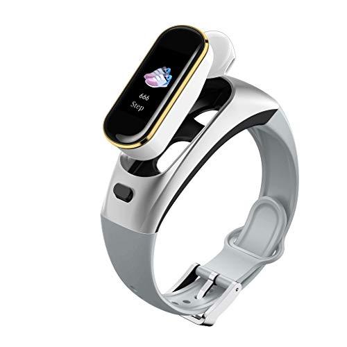 Flamedre Bluetooth koptelefoon H109 Smart Watch draadloze bloeddrukmeter voor iPhone Huawei Samsung zilver