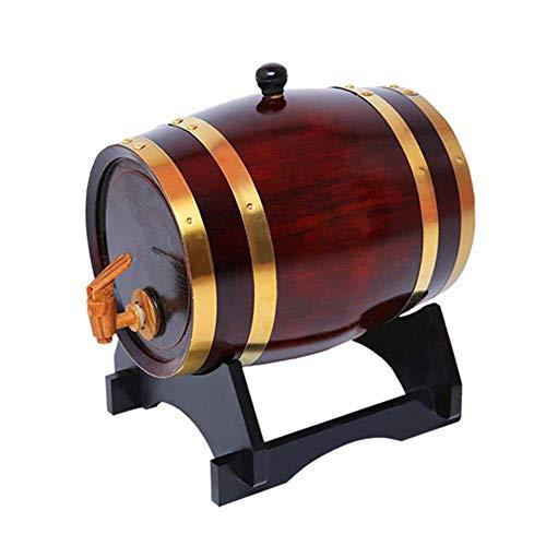 LIWine Barriles de Vino de Roble Barril De Vino De Madera Maciza, Barril De Roble Barril De Vino Rojo Hogar Barril De Vino De Madera 5L10L15L20L (Capacity : 5L, Color : F)