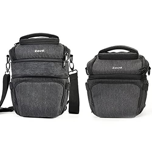 Zecti DSLR-Kameratasche Fototasche für Spiegelreflexkameras mit wasserdichtem Regenschutz, Einziehbares Volumen