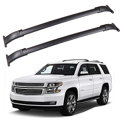 ROADFAR Roof Rack Aluminum Top Rail Carries Luggage Carrier Fit for 2015 2016 2017 2018 2019 2020 for GMC Yukon/for Tahoe/for Suburban/for Cadillac Escalade Baggage Rail Crossbars