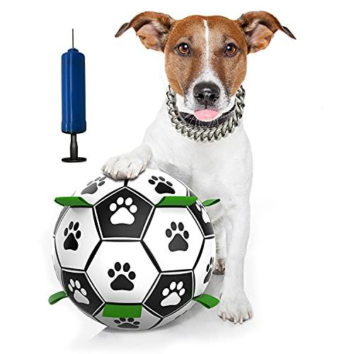 Hundespielzeug Ball, Interaktives Haustierspielzeug, Wasserspielzeug Schwimmender Ball, Hundefußball Intelligenzspielzeug, Hund Fußball für Mittelgroße und Kleine Hunde Haustiere