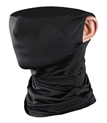 Bandanas-Kopf-Verpackung für Frauen, Ice Silk Stirnband Balaclava Solid Color Dehnbare Schweißband für Motorrad