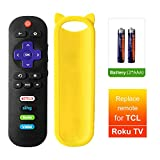 Bedycoon Remote Control Compatible with TCL roku TV RC280 55UP120 55us57 55S401 49S405 65S405 65s401 55s405 32S3850 32S3700 40FS3800 32S3800 2017 2018 TV and Case Cover Strap,and Batteries