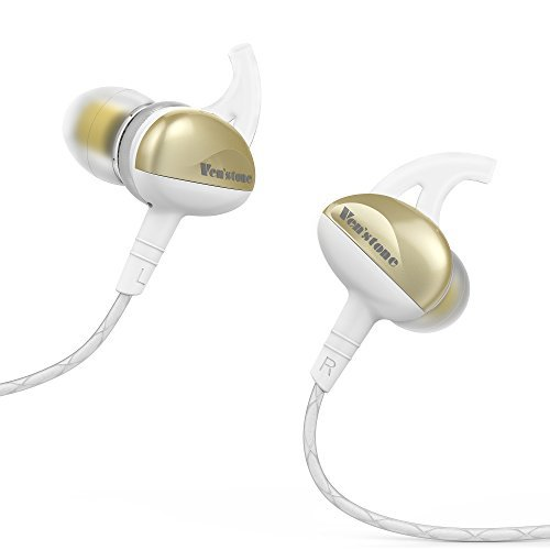 Sound Intone Sport Headphones,In Ear Noise Isolating Sweatproof Running Headphones Earphones with Microphone Wired Stereo Workout Earbuds for MP3 Tablet PC Smartphones (White/Gold)