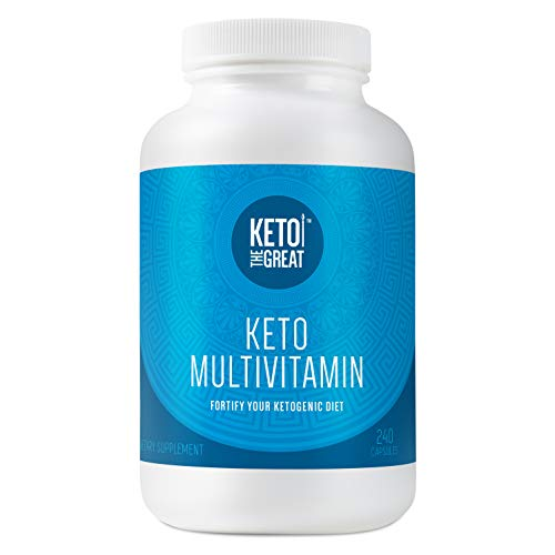 Keto the Great - Keto Multivitamin for Men and Women - Daily Vitamin and Mineral Supplement Pills for Ketogenic Diet - with Key Vitamins, Electrolytes, MCT and BHB to Help Ketosis, 240 Capsules