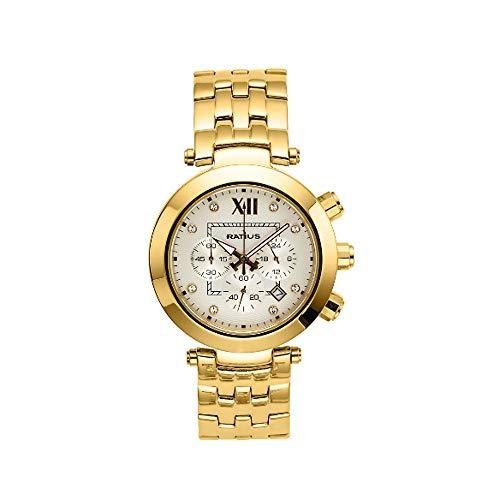 Ratius Damen Uhr 22.11561/1MG.25 mit Schmucksteine vergoldet