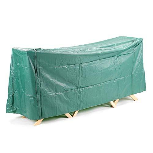 Mozusa Lona impermeable Muebles de jardín cubierta, mesa y silla de cubierta protectora, cubierta protectora, a prueba de lluvia, a prueba de polvo cubierta de lona pesada deber (Color: A, Tamaño: 130