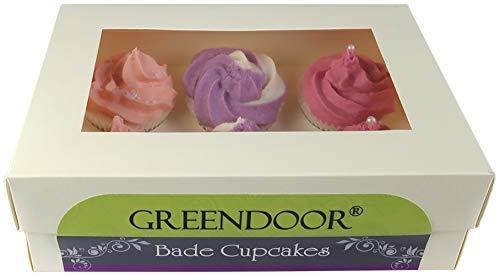 Set Badecupcake Frucht, Geschenkkarton 6 Badecupcakes gemischt für 6 Cremebäder, Ostern Geschenke