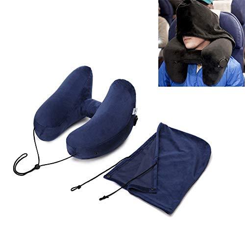Modenny H-Form-aufblasbares Reisekissen-faltendes leichtes Haar-Hals-Kissen-Autositz-Büro-Flugzeug-Schlafkissen-Kissen