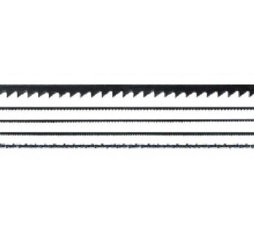 Maxicraft 89632 Jeu de 12 lames de scie fines 130 mm pour bois et plastiques, Argent