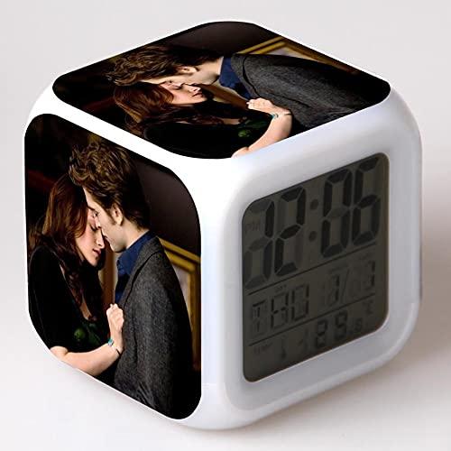 TYWFIOAV Reloj Despertador de Dibujos Animados, Reloj led para niños, Reloj Despertador Digital, luz de Despertador, Reloj Despertador de Mesa, Reloj Despertador