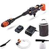 Yard Force 22Bar 20V Aquajet Cordless Pressure Cleaner with 2.5Ah Lithium-Ion Battery, Charger and Accessories LW C02