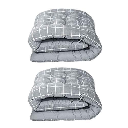 HEJINXL Sun Lounger Cushions Reclinable Terciopelo Grueso Cristal Cojín Ocio Alargado Ensanchado Cojín Algodón Plegable (Sin Silla) 2 Piezas (Color : A, Size : 175x55cm)