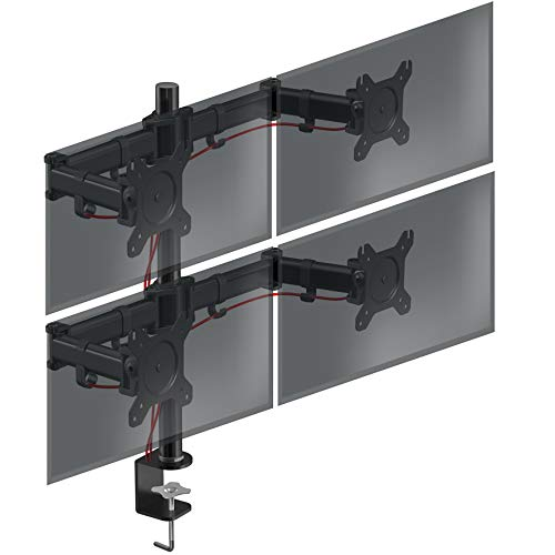 Duronic DM254 Soporte para 4 Monitores de 13