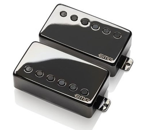 EMG JH James Hetfield Signature Guitar Pickup Set, Black Chrome