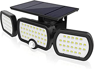 Solar Motion Sensor Lights, JESLED 80LED IP65 Waterproof Solar Light Outdoor with 270 Degree Lighting Angle, Wireless Secu...