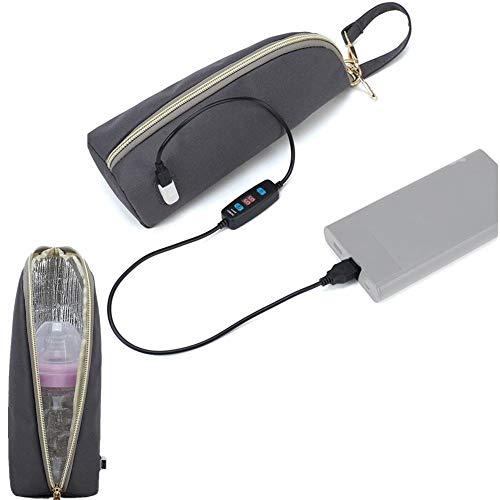 Yunhigh USB Baby Flaschenwärmer Tasche Reise, Tragbare Babyflasche Beheizte Tasche Elektrische Heizhaube Konstante Temperatur Isolierte Tasche