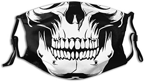 Skull Skeleton Face Mask Reusable Washable Dustproof Breathable Windproof Scarf Balaclava For product image