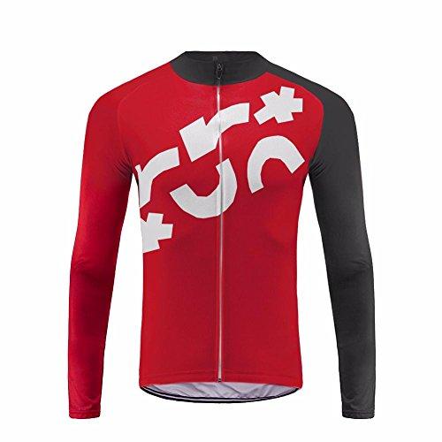 Uglyfrog Fahrradtrikot Langarm Thermo Radtrikot Pro/Windstopper/Atmungsaktiv/Reflektoren/Full Zip/Anti-Rutsch-Streifen for Winter