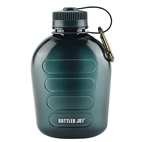 For Sale! legius 1L Army Green Canteen Plastic Tritan Sports Water Bottle Portable with Strap for Hi...