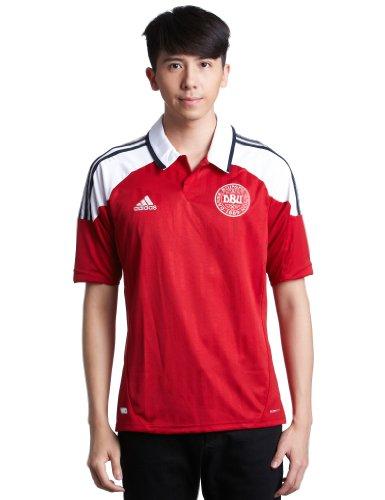 adidas - Camiseta de fútbol Sala para Hombre, tamaño L, Color Power Rojo f05 / Blanco