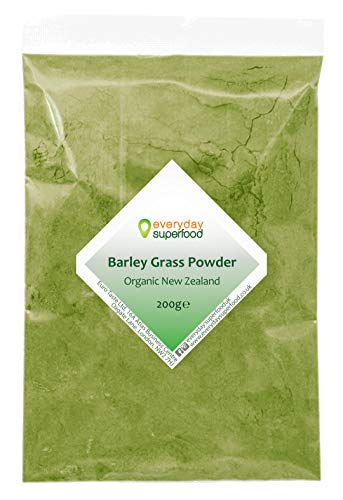 Barley Grass Powder (New Zealand) 200g Premium Raw & Natural Barleygrass Pure Keto Ingredient Fine Milled New Zealand Barley Grass Powder Ideal in Juice and Smoothies