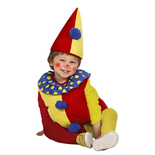 Amakando Clownkostüm Kinder Harlekin Faschingskostüm 90-104 cm 1-3 Jahre Baby Clownskostüm Clown Kostüm Karnevalskostüm Zirkus Faschingskostüm Geburtstag Kinderkostüm