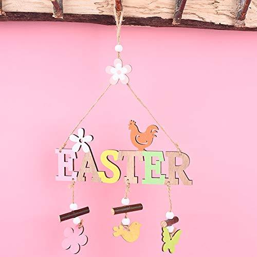 BeesClover Houten Brief Hangende Hanger voor Pasen Partij Ornament Thuis Shop Raamdecoratie Creatieve Levensstijl