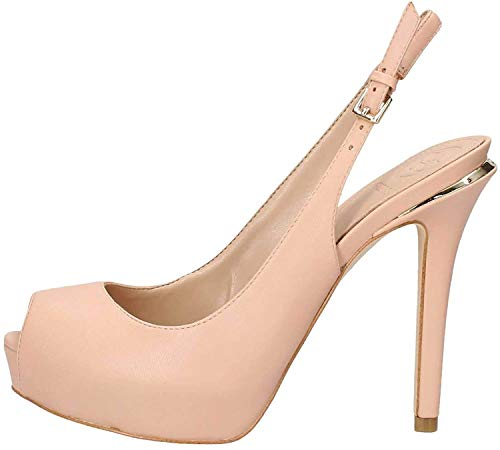Guess Damen Hartlie/spuntato (Open Toe)/le Peeptoe Pumps, Beige (Light Natural Natu), 40 EU