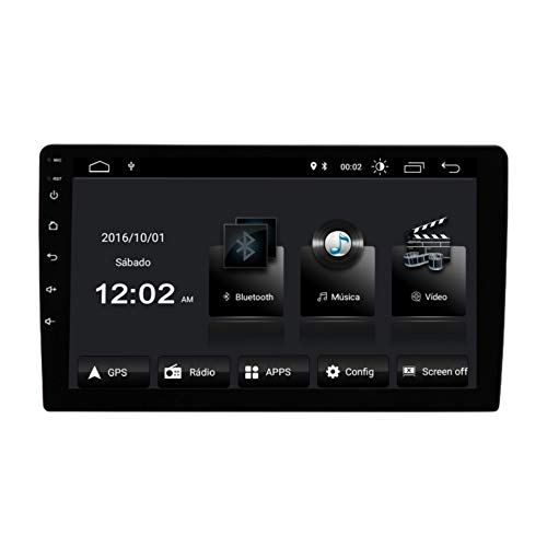 "Central Multimídia Android 10"" BT/RCA/USB/GPS/FM TV Digital Espelhamento Android e IOS Voolt"