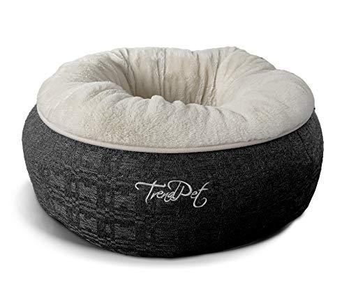 TrendPet Lunabed - Das runde Kuschelbett für Hunde und Katzen (Beige)