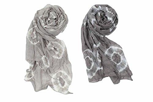 Ganz Style 101 My Urban Lifestyle Silk Scarves (Light Grey)