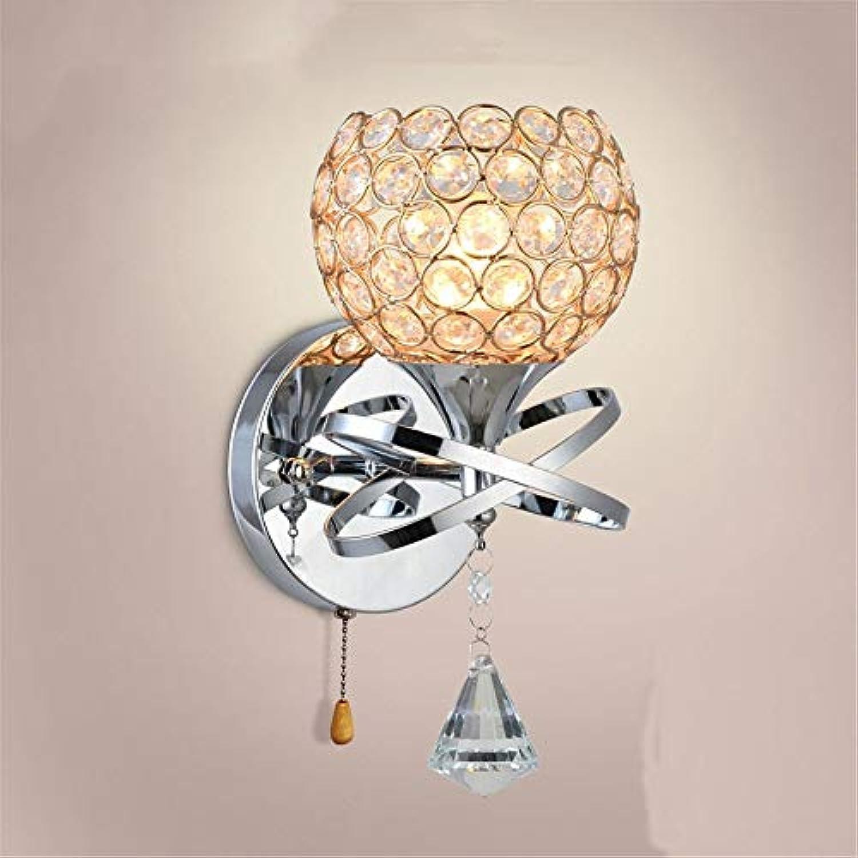 HRCxue Wandleuchten Moderne minimalistische kreative Kristallwandlampe-Nachttischlampe führte Innenwandlampen-Wandlampenwohnzimmer-Schlafzimmertreppen-Wandlampe Konservierungsmittel