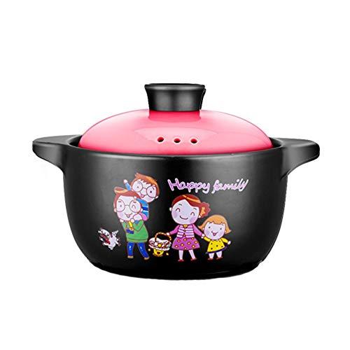 KFXL faitout ceramique Casserole, Grand Pot À Soupe En Céramique, Marmite À Soupe À Gaz Home Flame Home, Cocotte À Couvercle Ovale cocotte en fonte (Color : B, Size : 3L)