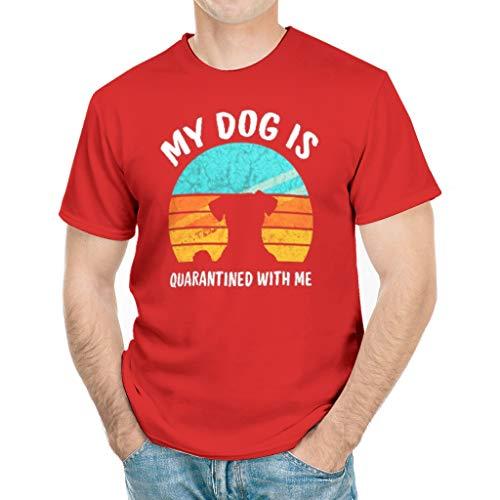 This is My Quarantine Shirt My Dog is Quarantined with Me T-Shirt White Medium