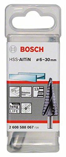 Bosch 2608588067 - Punta a gradini attacco triangolare per passacavi lunghezza 93,5 mm Exécution HSS-AlTIN