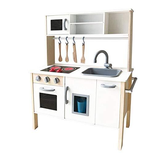 Play Hoome Cocina de Madera Infantil Blanca con Accesorios