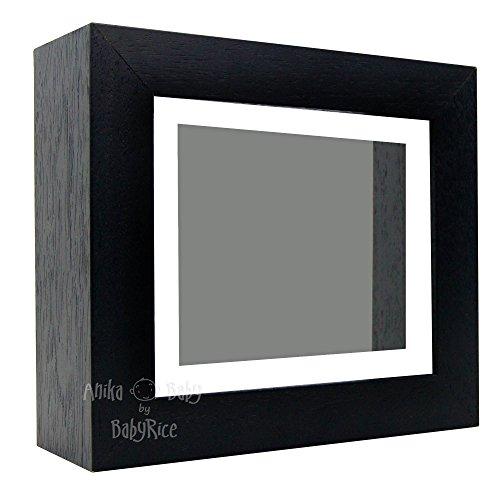 Bilderrahmen, 15,2 x 12,7 cm, mit weißem Passepartout und grauem Hintergrund, für Bilder/Schattenboxen, dick, Dekoration, Rahmen, Galerie, Vitrine
