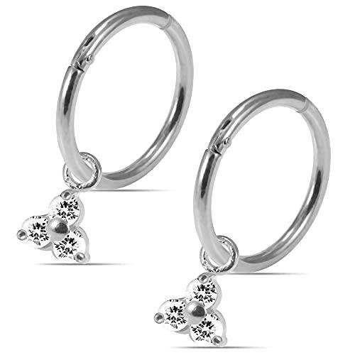 Orecchini a perno a perno con chiusura a bottone a perno in argento Sterling 925 con pietra rotonda, CZ, zirconia cubica,