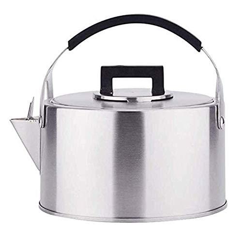 ASDFDG Estufa Top Tetera Hervidor de hervidor rápido de la Estufa de Acero Inoxidable 3L con la Estufa de Gas Resistente al Calor Cocina de inducción Kettle Universal