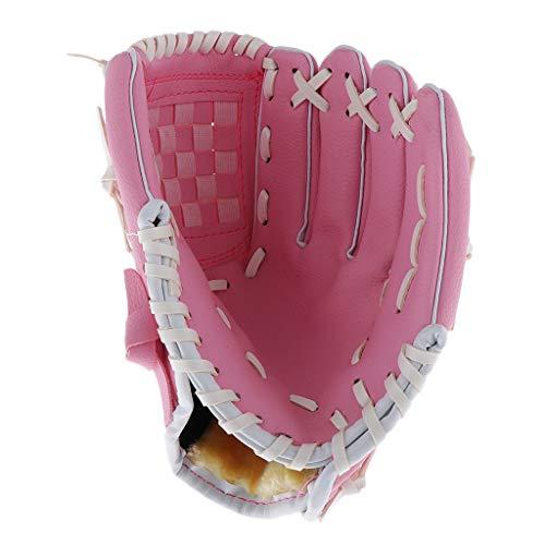 T TOOYFUL 9,5 Zoll Teeballhandschuh Für Linkshänder Deluxe Baseballhandschuh Aus Synthetischem Leder Mehrere Farben - Rosa, 9,5 Zoll