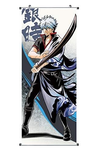 CoolChange Gin Tama Rollbild / Kakemono aus Stoff Poster, 100x40cm, Motiv: Gintoki Sakata