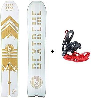 Bextreme Tabla Snowboard Freeride para Hombre Dust 160cm con Fijaciones SP Private. Snow direccional Twin Wide para Powder y Pista Fabricado con Bambu, Haya y álamo