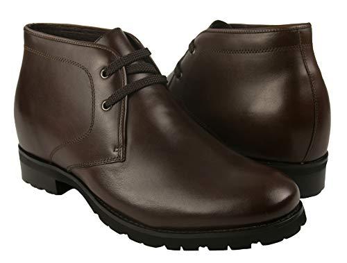 ZERIMAR Botas con Alzas Interiores para Hombres Aumento 7 cm | Botas de Hombre con Alzas Que Aumentan Su Altura | Botas Hombre | Botas Hombre Casuales | Color Marrón Talla 42