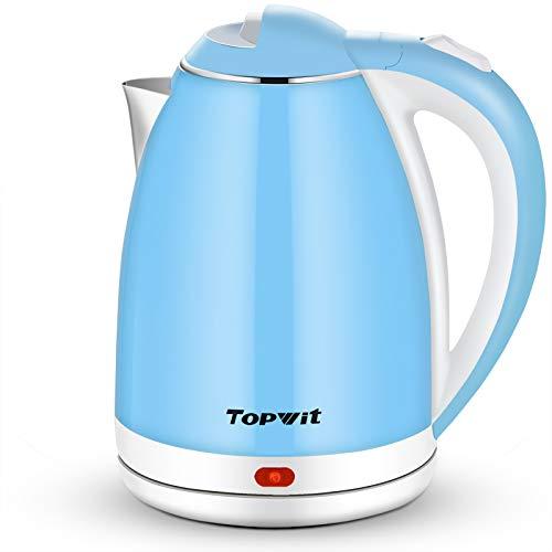 Topwit Electric Kettle, Double Wall Hot Water Kettle, 2L Electric Tea...