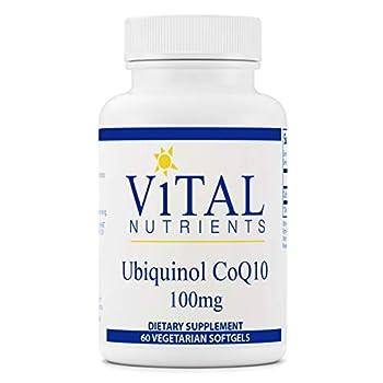 Vital Nutrients - Ubiquinol CoQ10 - Activated Form of Coenzyme Q10-60 Vegetarian Softgels per Bottle - 100 mg
