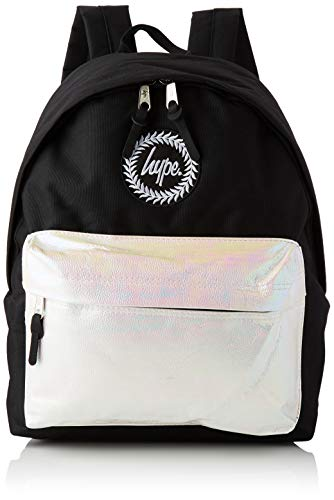 HYPE - Pearlescent Pocket, Mochilas Unisex adulto, Multicolor (Black/White), 30x41x15 cm (W x H L)