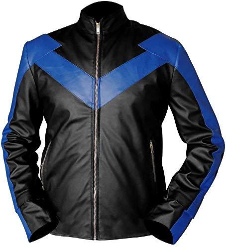 Leatheromatic Mens Danny Shepherd Mens Nightwing Dick Grayson Leather Jacket